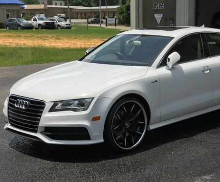 Audi after auto detailing in Montgomery, AL.